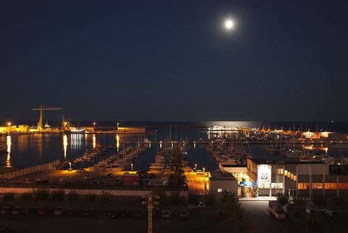 Luna llena sobre el puerto burriana castell n spain - Puerto burriana ...
