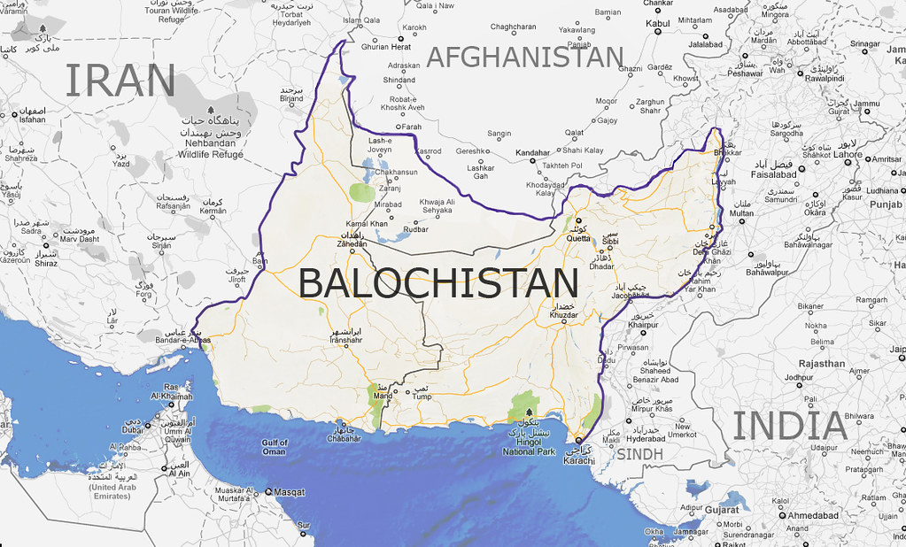 Map Of Balochistan Balochistan Constitutes The Following