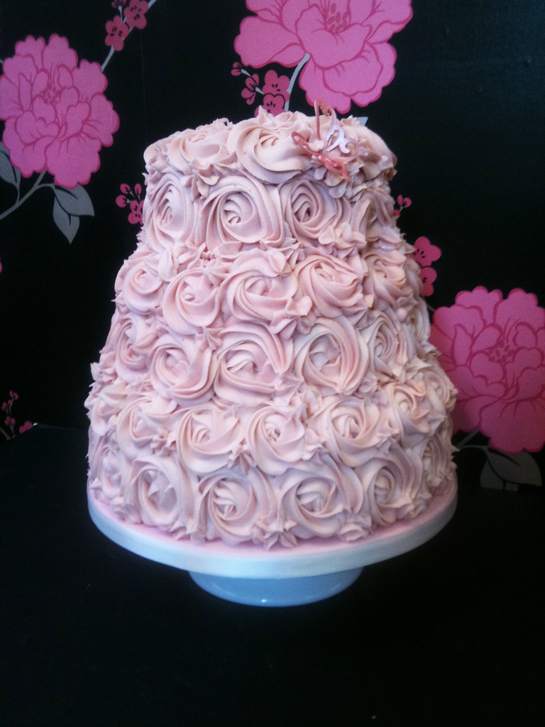 Wedding Cake Rose Swirl Something A Little Different