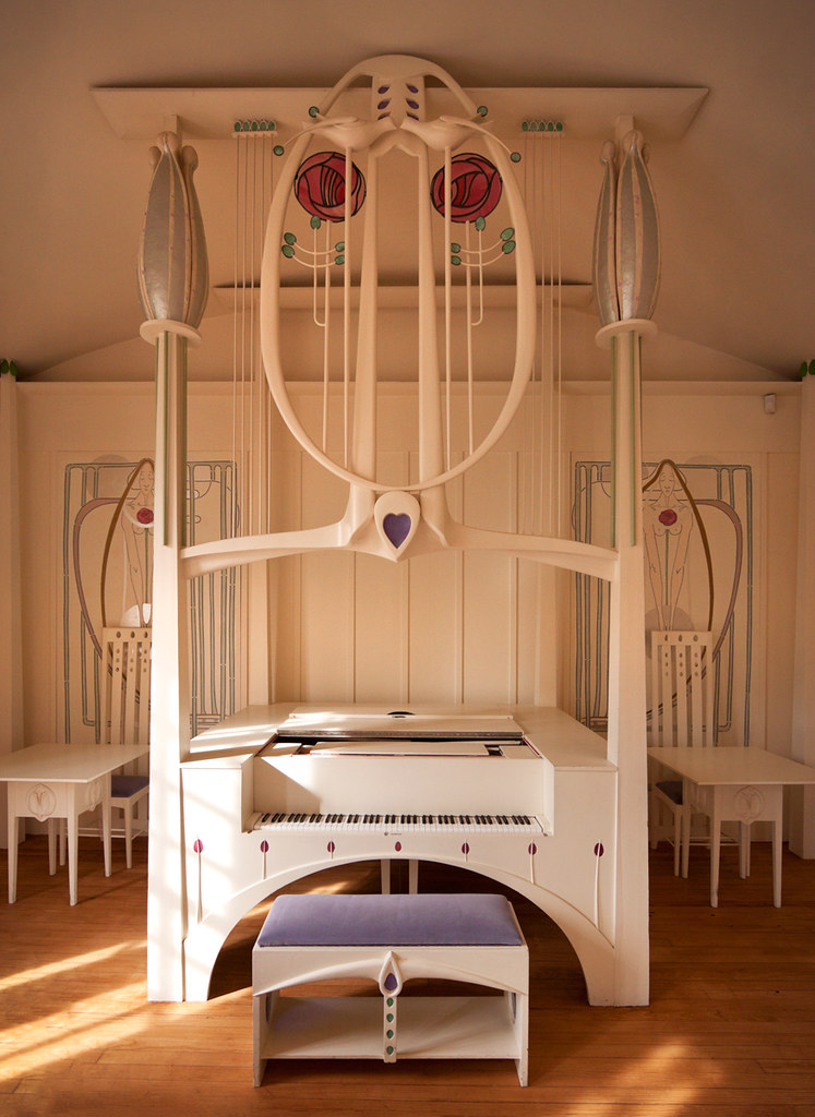 House For An Art Lover Music Room Piano House For An