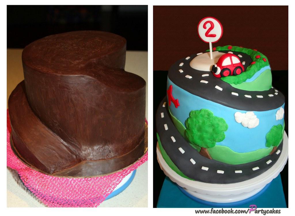 The First Car >> Spiral Car Cake | My first spiral cake! Visit me on Facebook… | Flickr