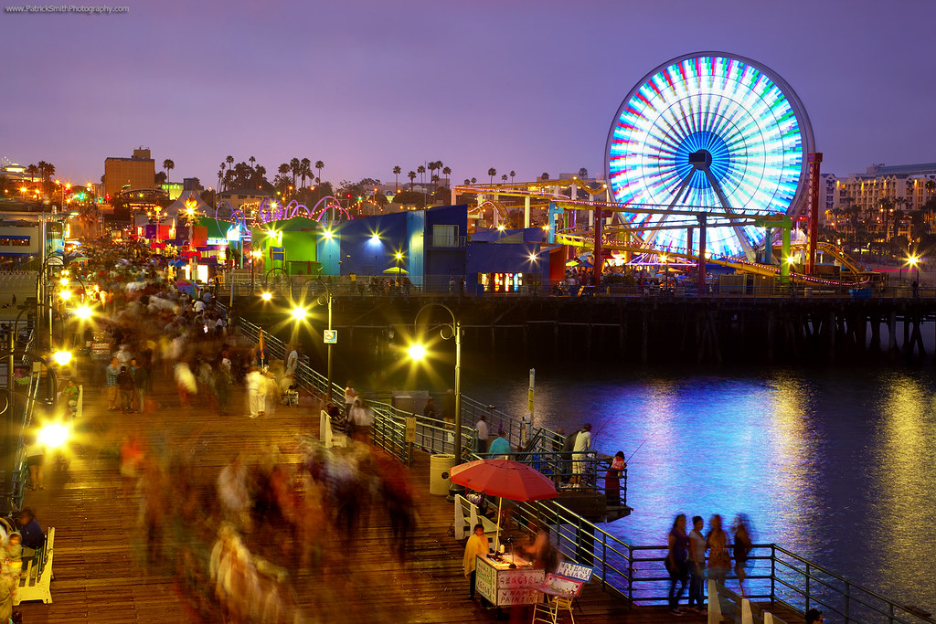 Santa Monica Evening At The Pier A Cool Evening On The