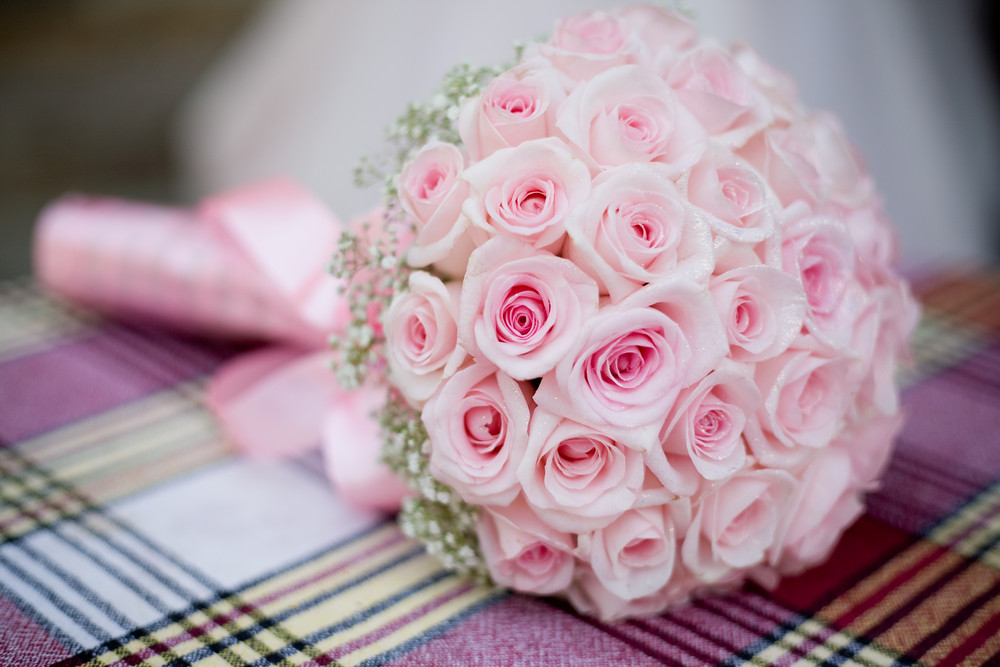 Pink Rose Bride Bouquet | This is a beautiful wedding bouque… | Flickr