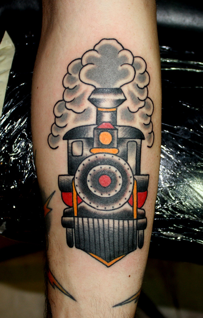 train tattoo myke chambers tattoo by myke chambers flickr. Black Bedroom Furniture Sets. Home Design Ideas