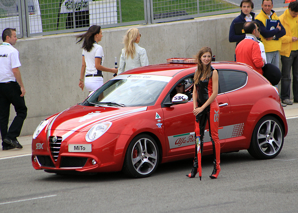 alfa romeo mito safety car and promotion girl   silverst flickr