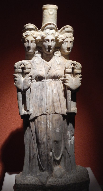 hecate this 3rd century ce statue of hecate in the
