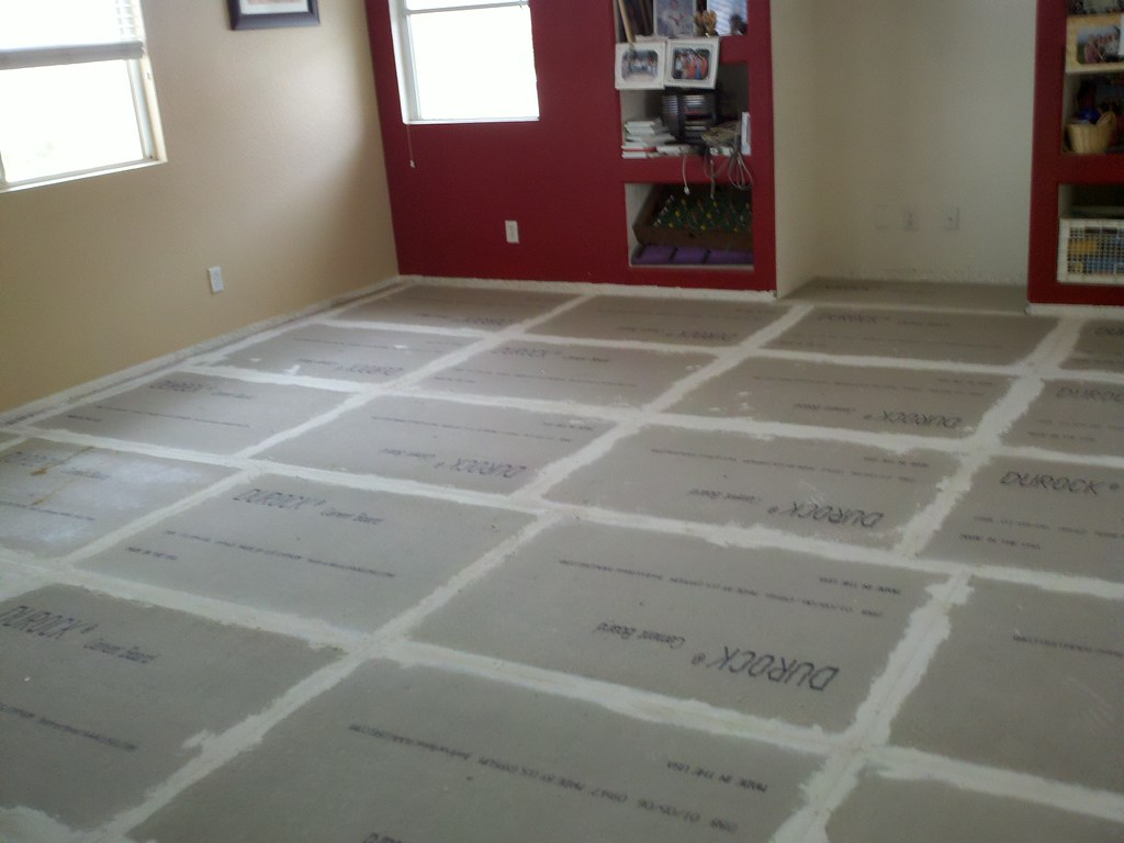20 Quot Porcelain Tile Installation Durock Layer Install