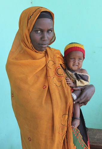 Tiru with her baby daughter in southern Ethiopia