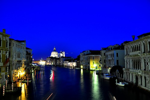 "An evening in Venice!! View of ""Santa Maria Della Salute"" from ""Ponte dell'Accademia"" 
