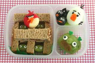 angry birds bento | by anotherlunch.com