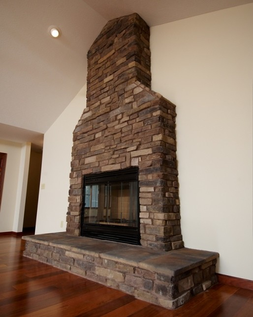 Stone Faced Fireplace | Wayne Homes | Flickr