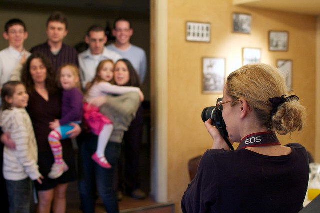 photographing your own family and friends