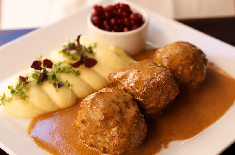 Swedish meatballs with mashed potatoes & lingonberries | Flickr