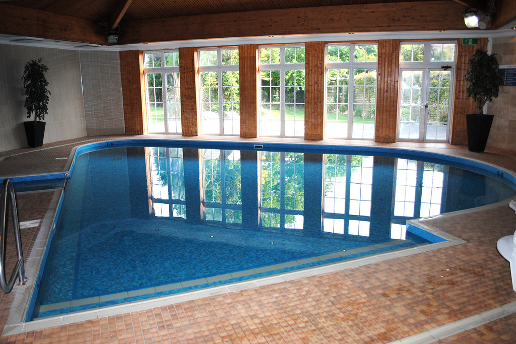 Indoor pool at the balmer lawn hotel mark flickr - Hotels in brockenhurst with swimming pools ...