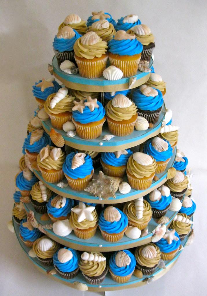 Cupcake Tower Beach Wedding Katiskupcakes Flickr
