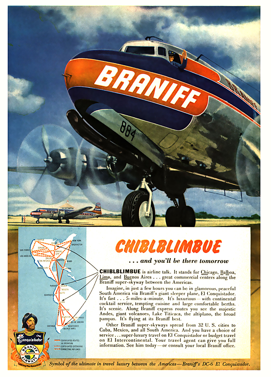 Braniff Airlines - 1950