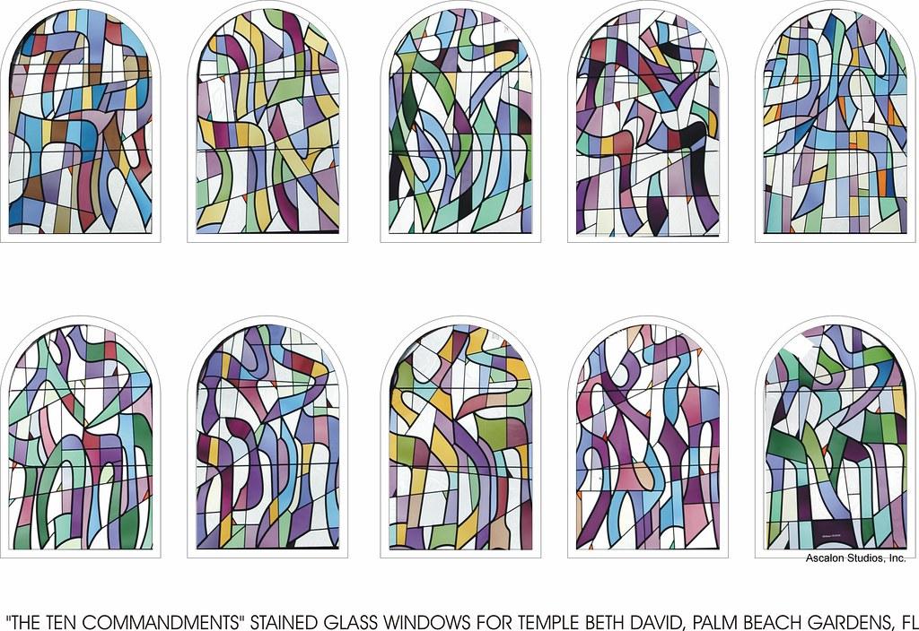 Ten Commandments Stained Glass Windows By Ascalon Studio