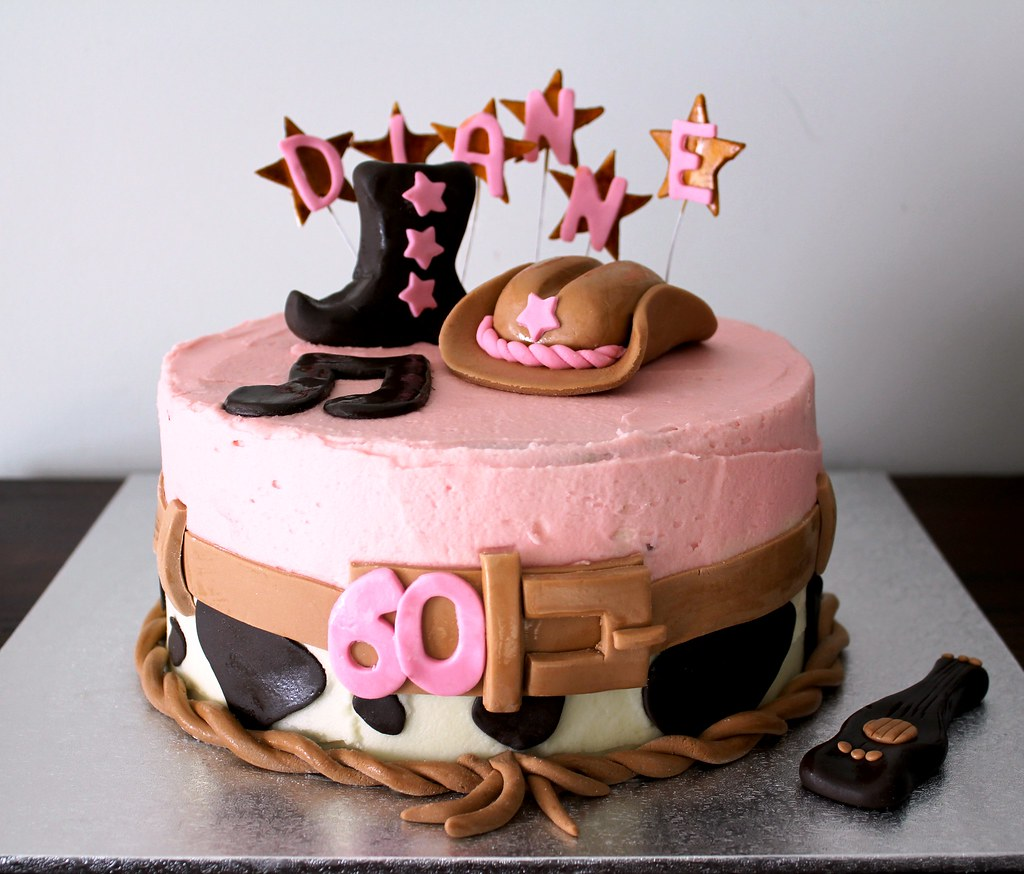 Country Music Cowgirl Cake