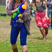 Hipsters vs Hippies water balloon showdown: duck