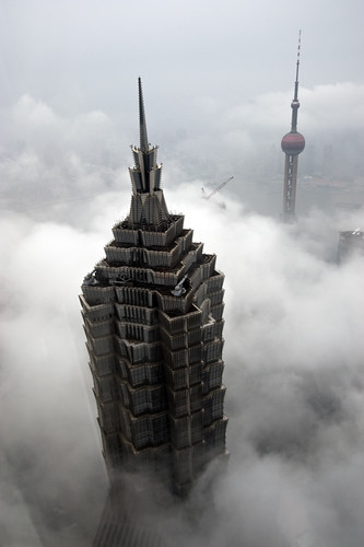 jin mao tower and shanghai tv tower | by Gaellery