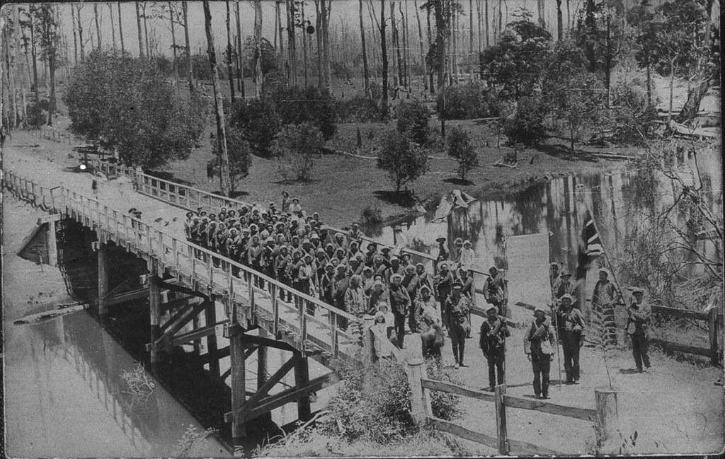 Bonville Australia  City pictures : Bonville Bridge. World War I recruiting march Coffs Harbour, NSW ...