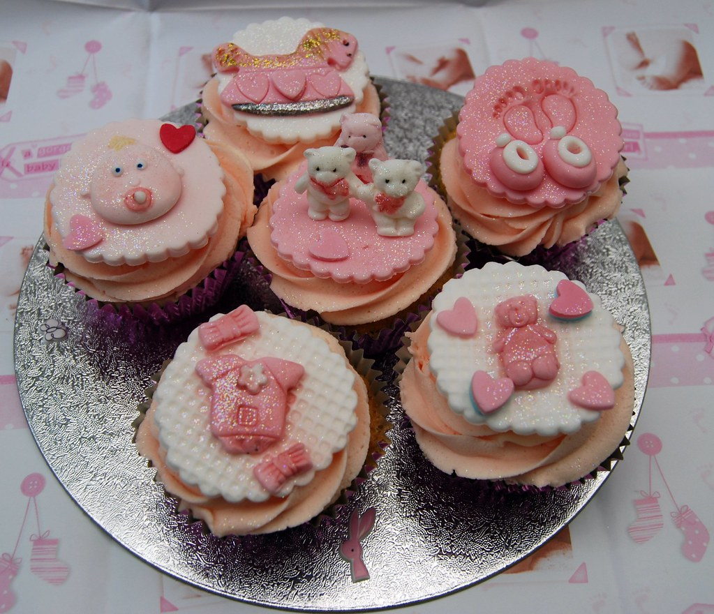 Christening Baby Shower Baby Girl Cupcakes Pink For A B Flickr