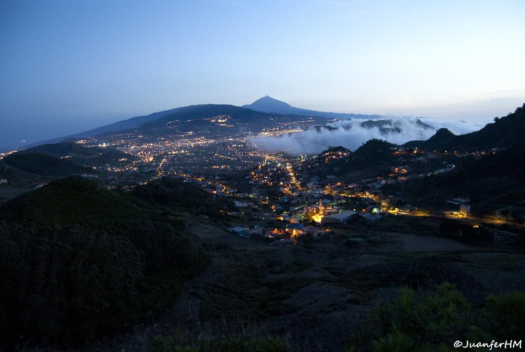 Anochecer en el valle de aguere san crist bal de la lagu for Mirador de jardina