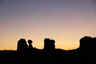 Balanced Rock silhouette | by daveynin