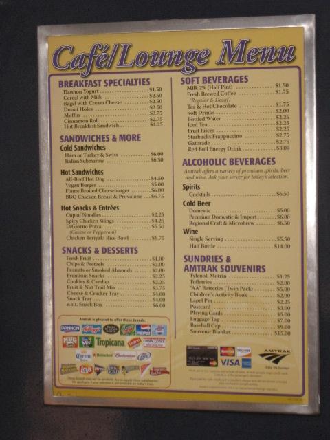 Amtrak snack bar menu amtrak snack bar menu flickr for Snack bar menu
