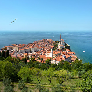 The Piran peninsula on the Istrian coast of Slovenia | by B℮n