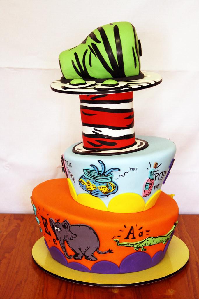 Dr Seuss Cake Three Tier Dr Seuss Cake The Top Tier Is