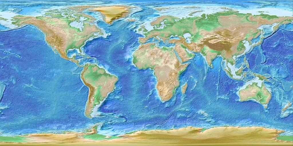 Global DEM Using GEBCO Elevation Dataset A Rendering Of Flickr - Dem global