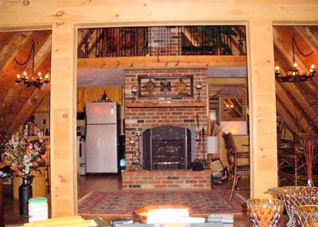 dual living areas wood burning fireplace insert w blower