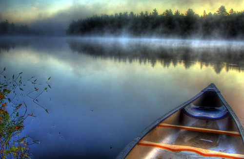 Misty Morning Boat (HDR) | by Knowsphotos