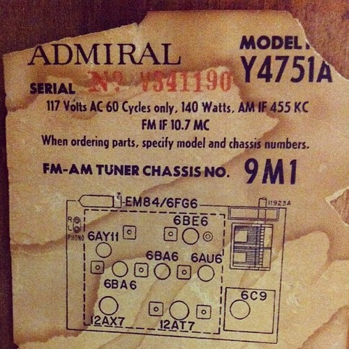 Admiral AM / FM Stereo Multiplex | by lerble