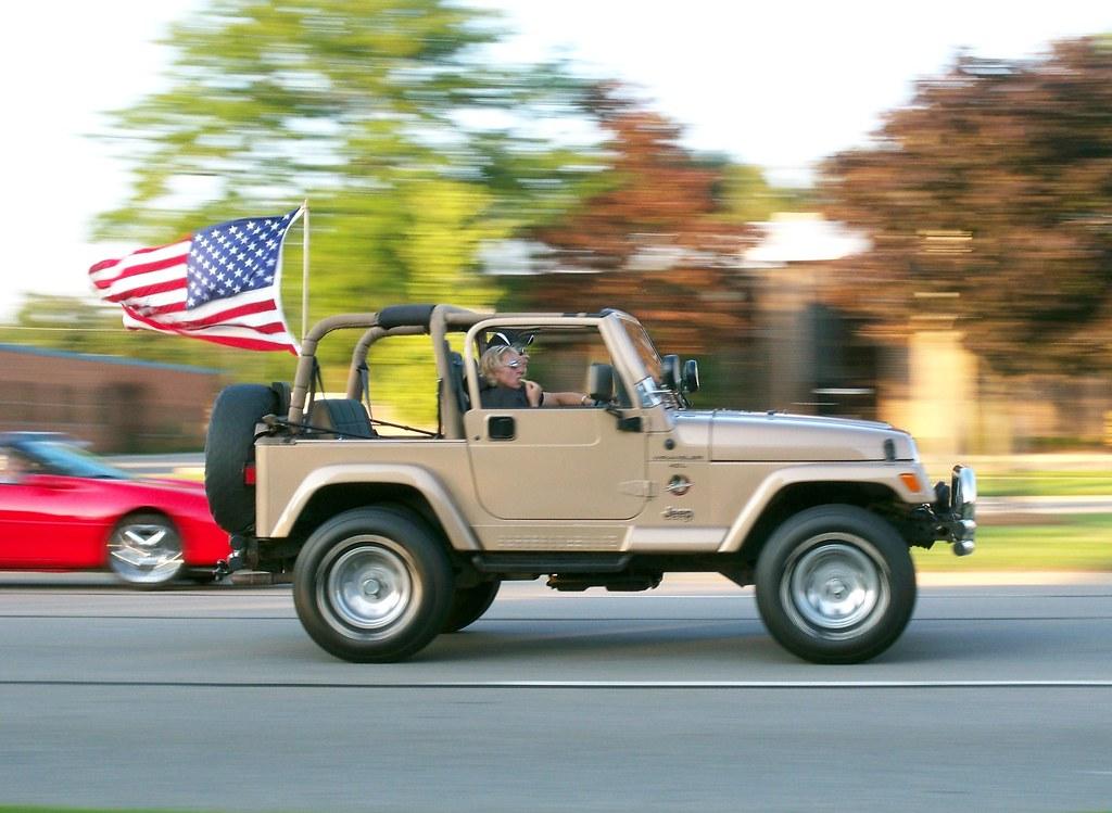 All American Jeep with US Flag   lee.ekstrom   Flickr