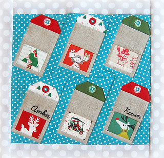 Christmas Gift Tags block for Amber - Ringo Pie Bee | by ayumills