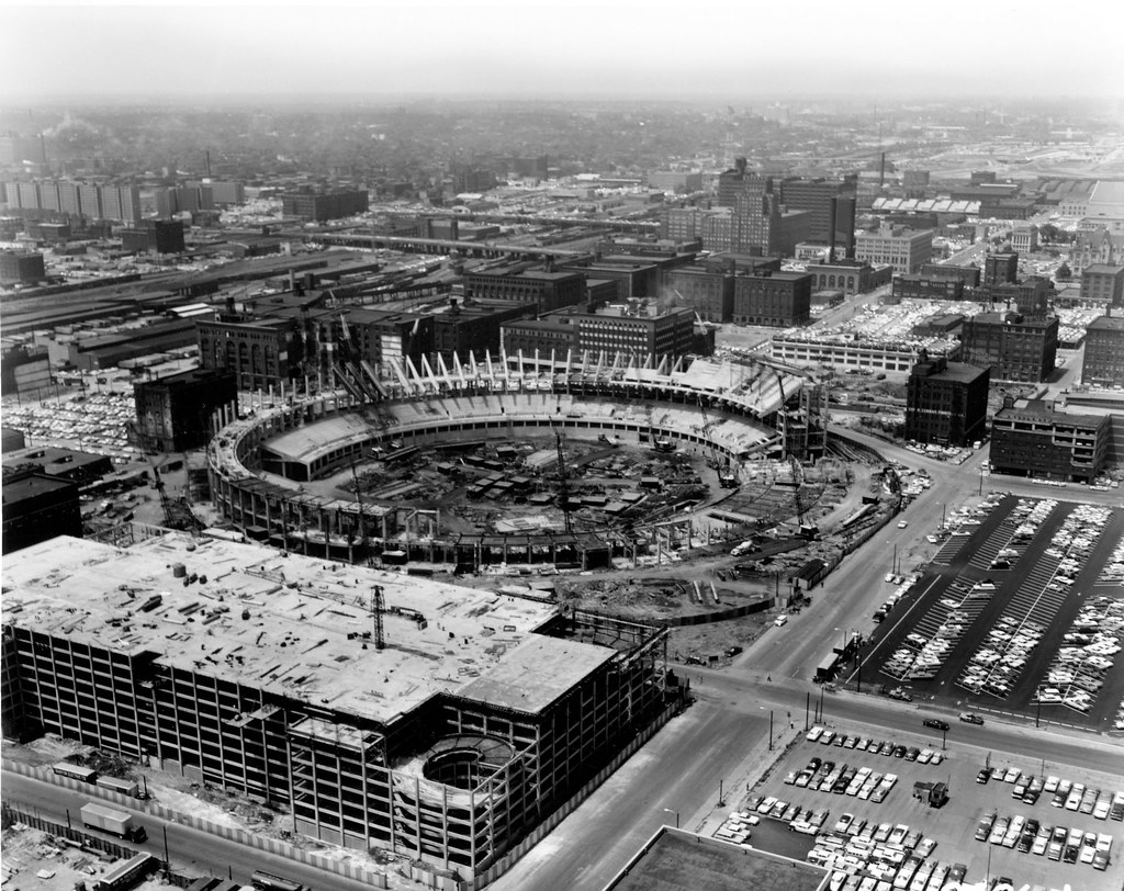 Aerial View Of Busch Stadium Construction Msa