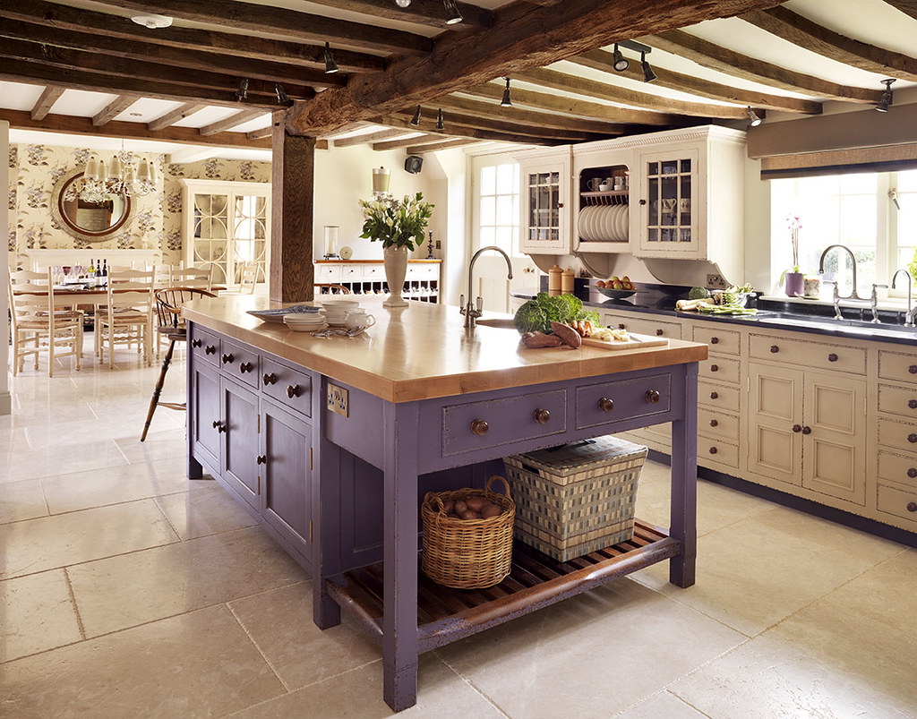 English Hob Kitchen ~ Damson worktable the chalon is one of those
