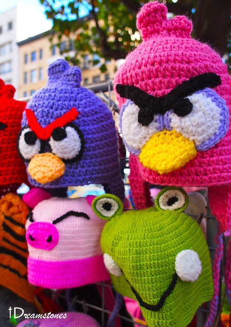 Knitted Childrens Slippers Free Pattern : Angry Birds knitted hats Flickr - Photo Sharing!