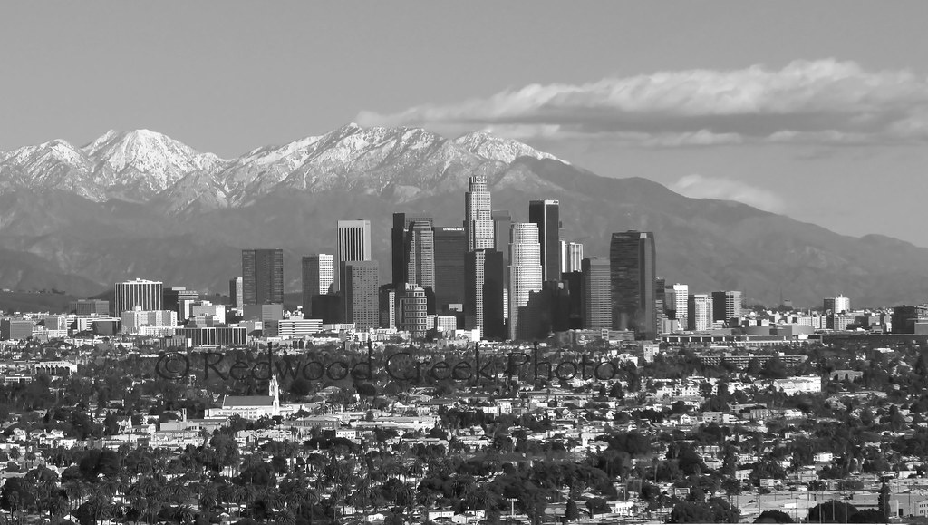 Downtown los angeles on a clear day by redwood creek photography rwcphoto