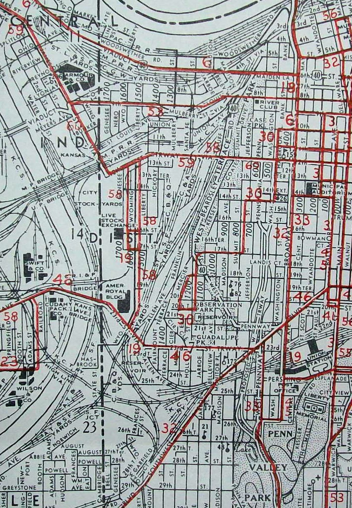 Kansas City MO 1950 | Map by Gallup Map & Stationary Company… | Flickr