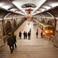 Pyongyang subway station