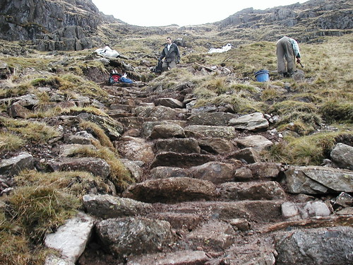 Path construction stonework, Coniston | by uplandaccess