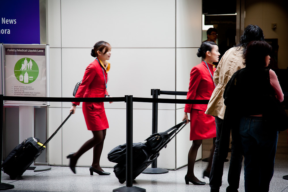 Cathay Pacific flight attendants | San Francisco Int'l ...