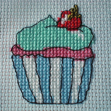 YUM Cupcake in cross stitch | Calorie-free cupcakes ...