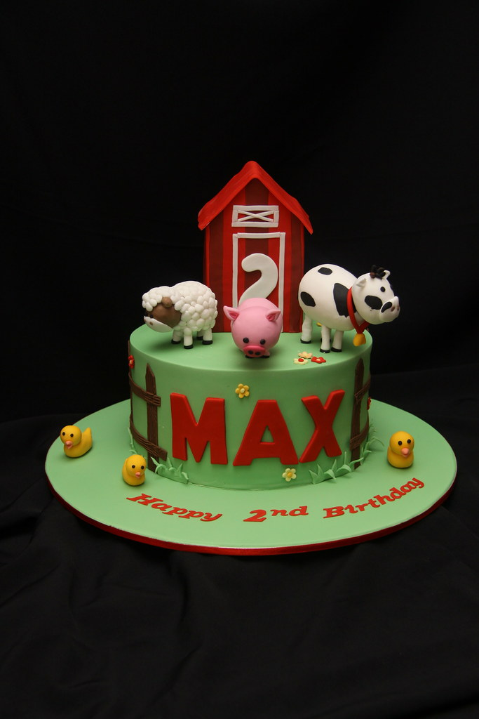 Max S 2nd Birthday This Cute Cake Was For A Little Boy S 2 Flickr