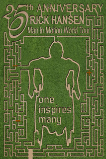 Maze this year - Rick Hansen! | by lacombecornmaze