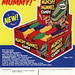 Topps - Munchy Mummies Candy - 15-cent display box - sell sheet - 1970's