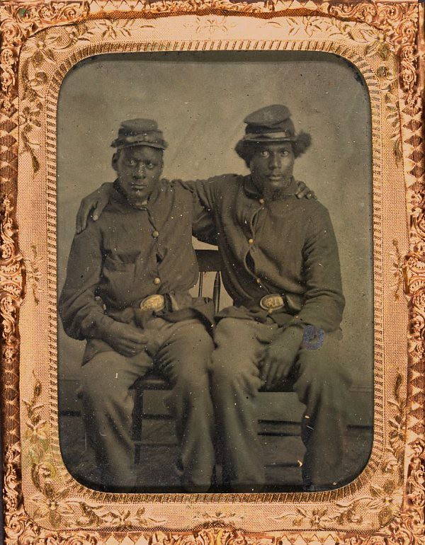 Brothers In Arms  1864  Two Unidentified Black Union -9374